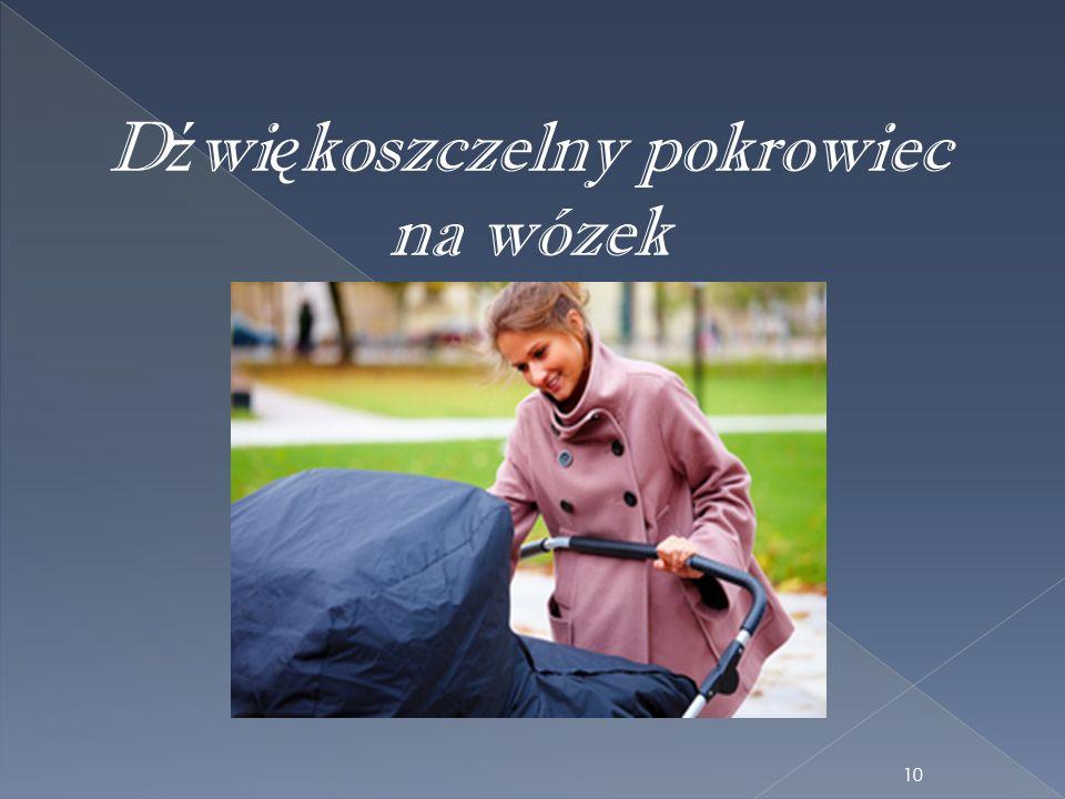 D ź wi ę koszczelny pokrowiec na wózek 10