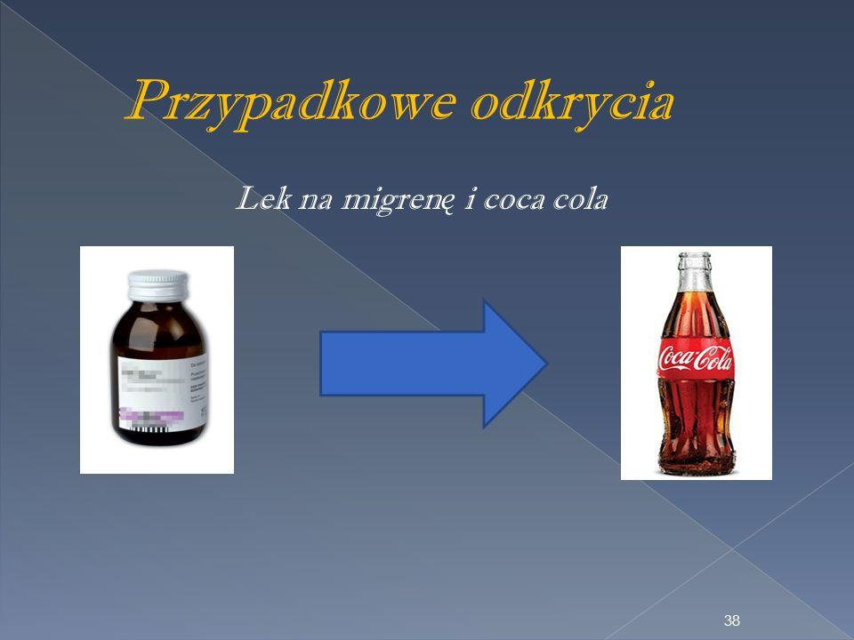 Przypadkowe odkrycia Lek na migren ę i coca cola 38