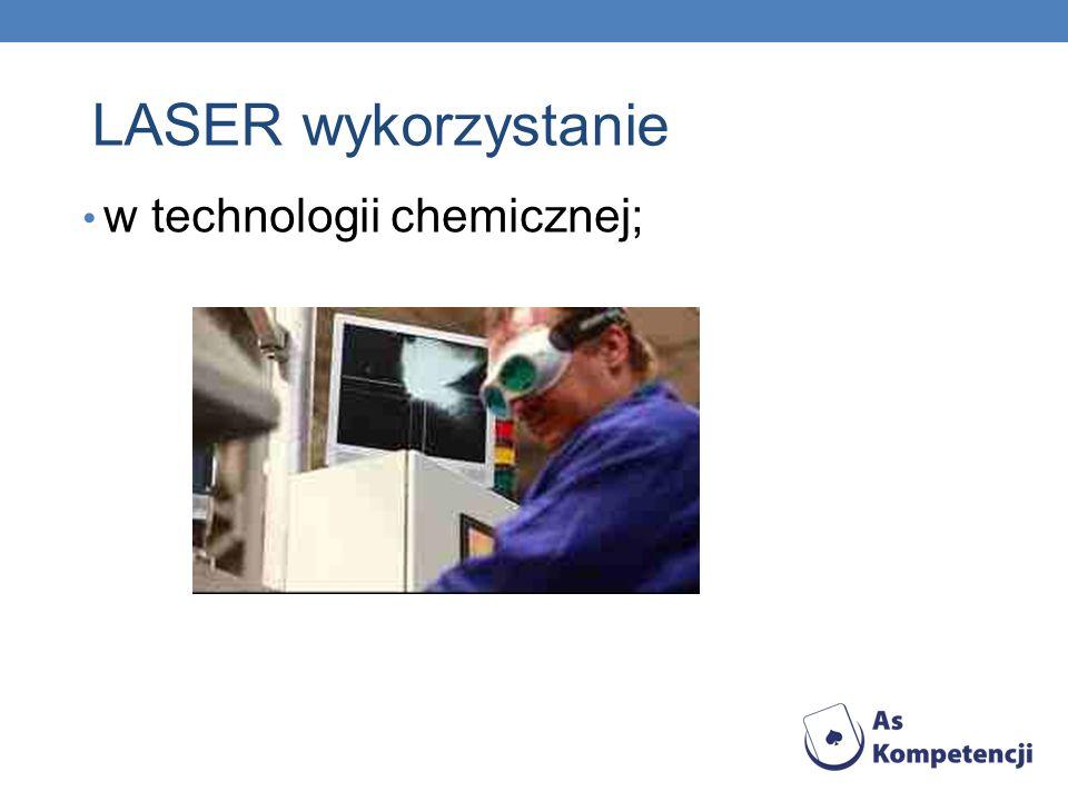 w technologii chemicznej;