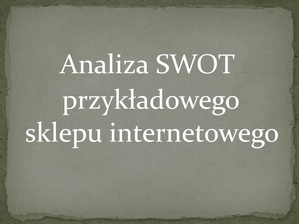 Analiza SWOT przykładowego sklepu internetowego