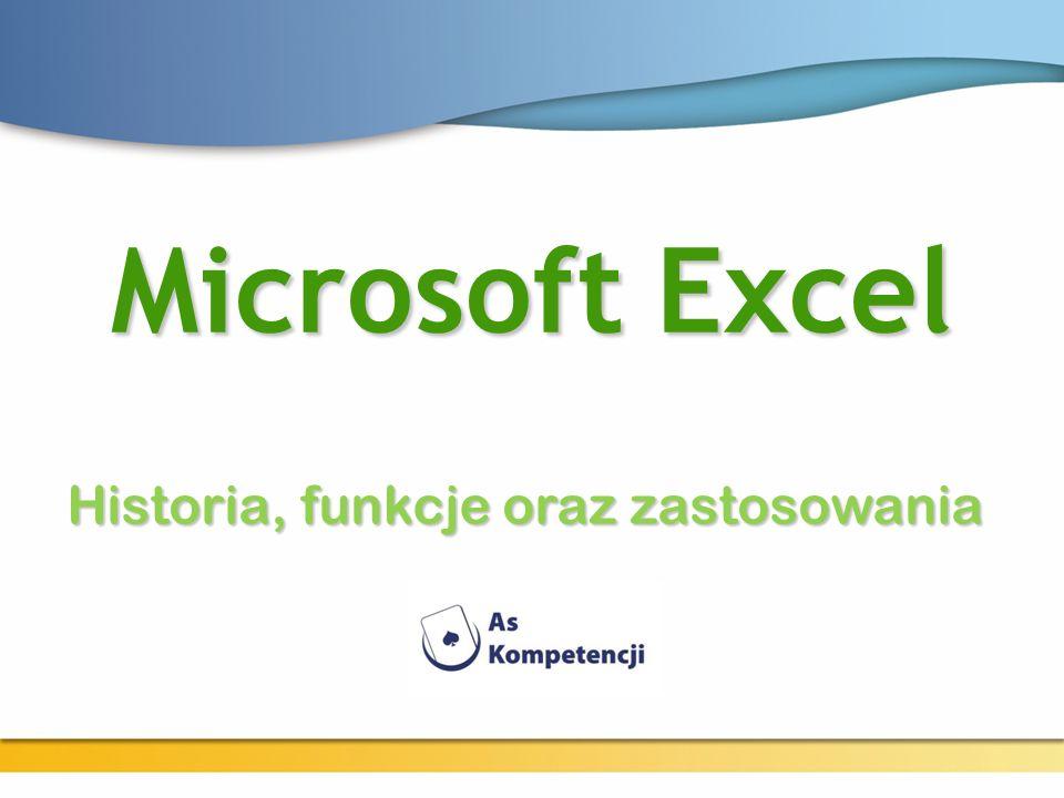 Microsoft Excel Historia, funkcje oraz zastosowania
