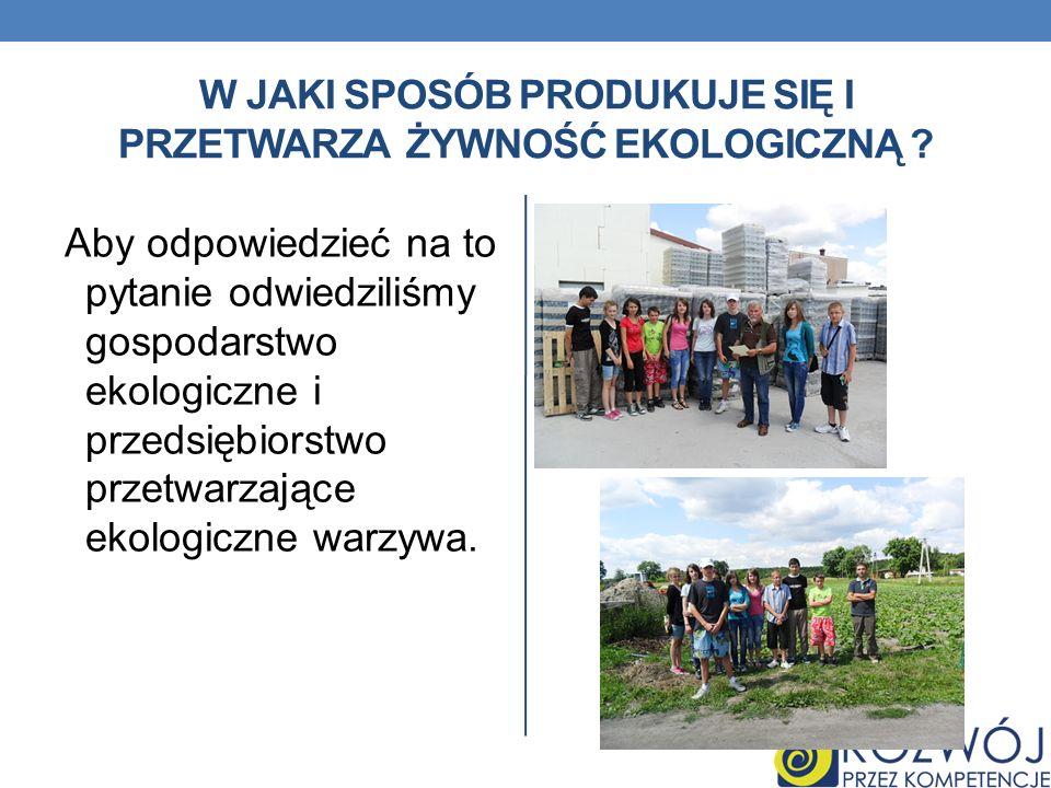 EKOLOGICZNA ŻYWNOŚĆ W Unii Europejskiej tym terminem określa się żywność, której sposób wytwarzania jest zgodny z zasadami zawartymi w rozporządzeniu Rady EWG 2092/91 w sprawie produkcji ekologicznej produktów rolnych oraz znakowania produktów rolnych i środków spożywczych i oznacza między innymi żywność produkowaną bez użycia nawozów sztucznych i chemicznych, środków ochrony roślin, przy zachowaniu żyzności gleby oraz różnorodności biologicznej.