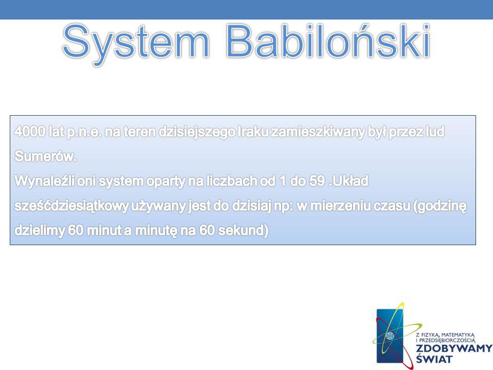 Liczby babiloński są właściwie kombinacjami dwóch znaków : jedynki i dziesiątki.