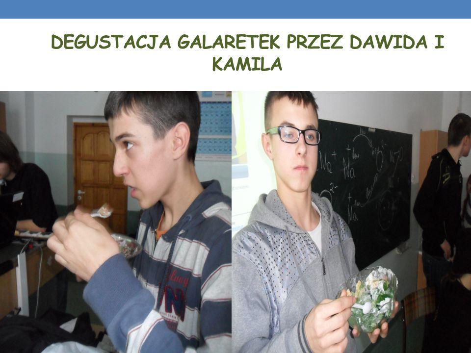 DEGUSTACJA GALARETEK PRZEZ DAWIDA I KAMILA
