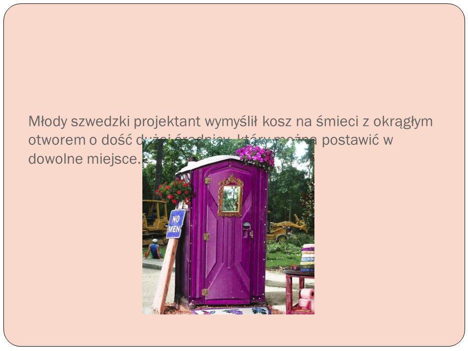 Młody szwedzki projektant wymyślił kosz na śmieci z okrągłym otworem o dość dużej średnicy, który można postawić w dowolne miejsce.