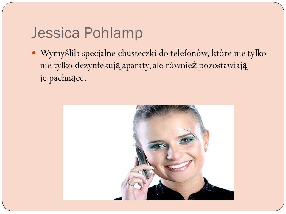 Jessica Pohlamp Wymy ś liła specjalne chusteczki do telefonów, które nie tylko nie tylko dezynfekuj ą aparaty, ale równie ż pozostawiaj ą je pachn ą c