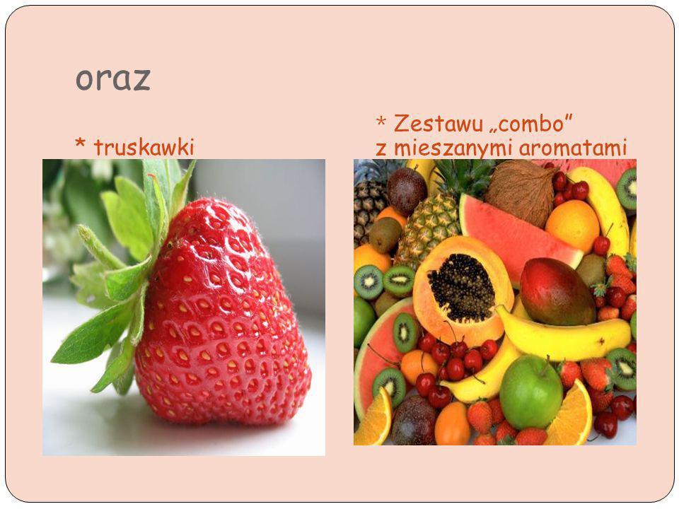 oraz * truskawki * Zestawu combo z mieszanymi aromatami