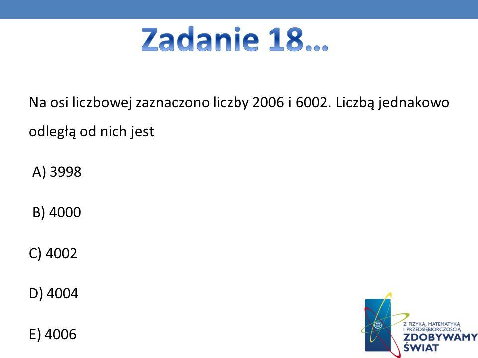 Na osi liczbowej zaznaczono liczby 2006 i 6002.