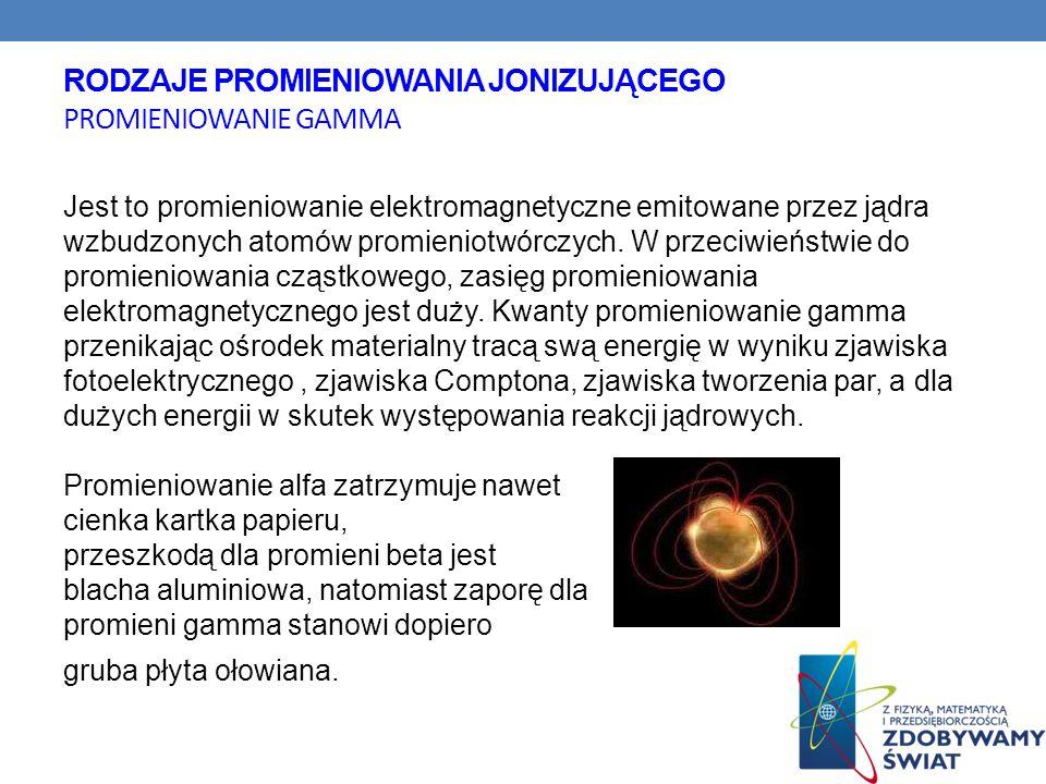 Jest to promieniowanie elektromagnetyczne emitowane przez jądra wzbudzonych atomów promieniotwórczych. W przeciwieństwie do promieniowania cząstkowego