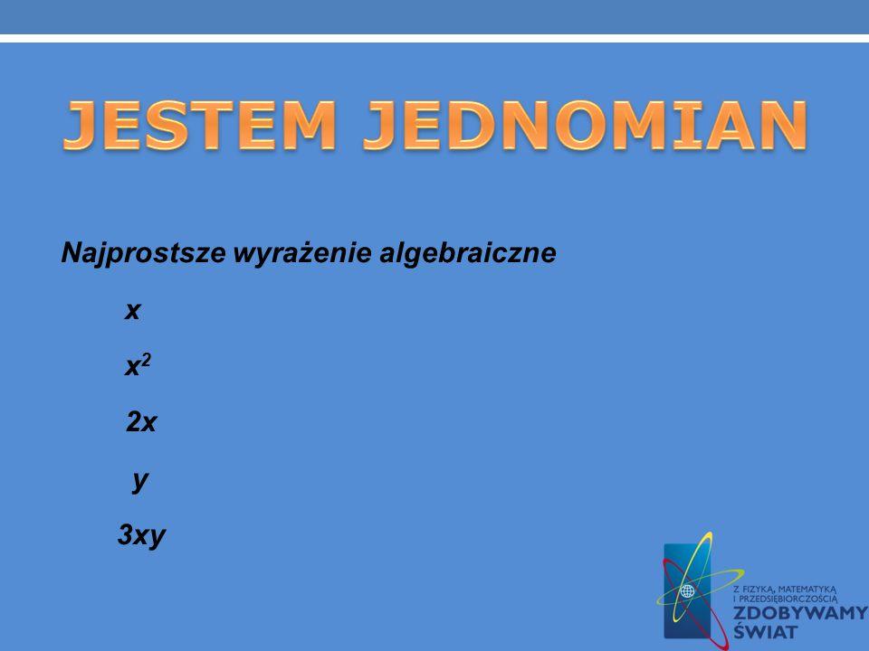 Wyrażenia algebraiczne, to takie wyrażenia, w których występują liczby, litery i znaki działań. Przykłady: 3 + m 8a : 4 Zapis: 8a oznacza 8. a 2(x + y