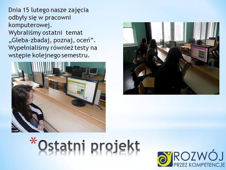 Dnia 22 lutego zrobiliśmy przydział obowiązków i ustaleń organizacyjnych.