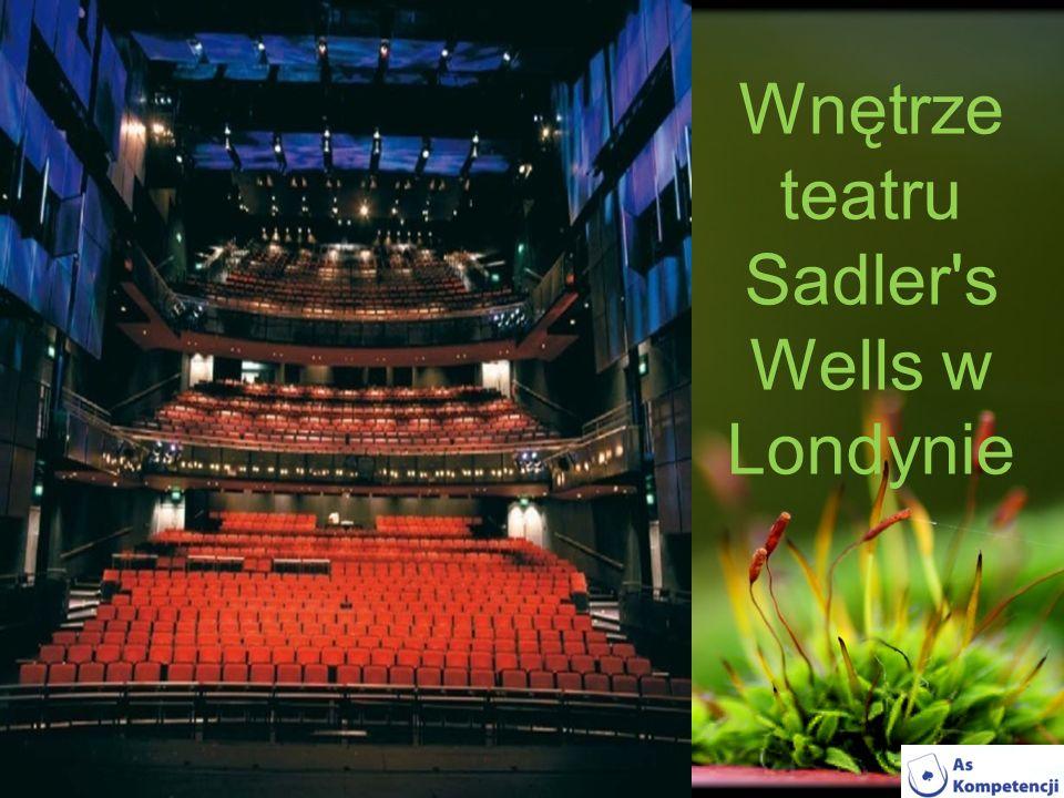 Wnętrze teatru Sadler's Wells w Londynie