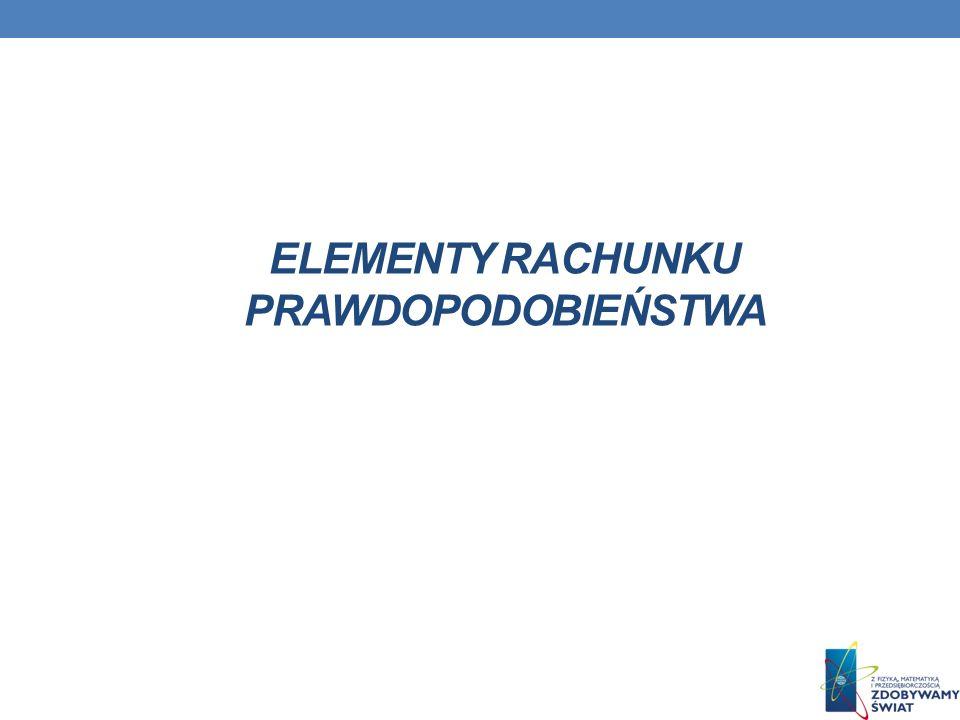 ELEMENTY RACHUNKU PRAWDOPODOBIEŃSTWA