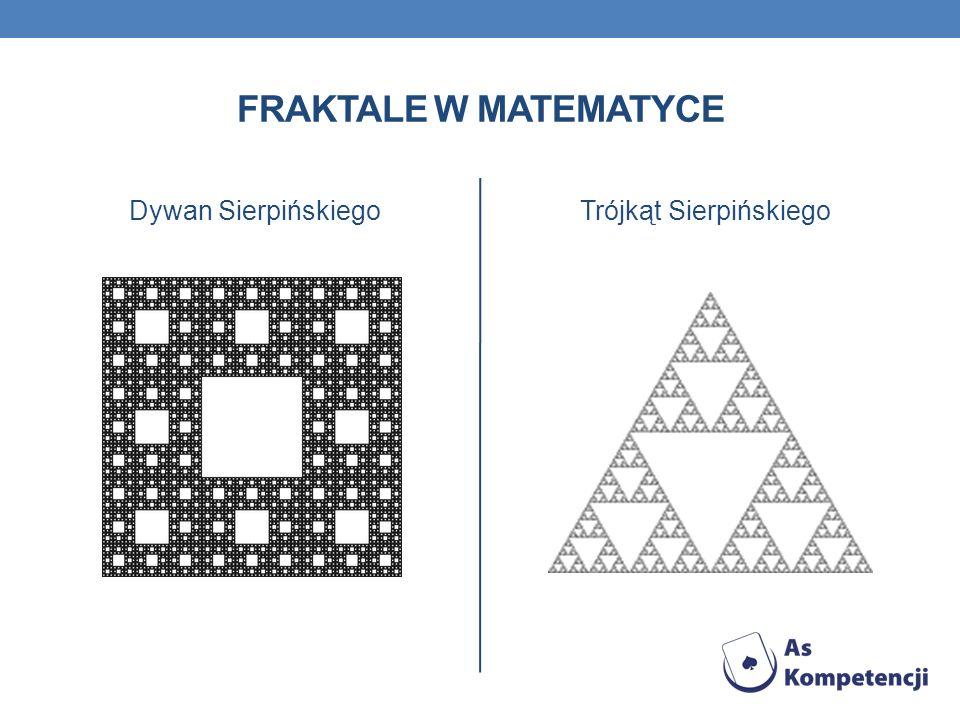 FRAKTALE W MATEMATYCE Dywan SierpińskiegoTrójkąt Sierpińskiego