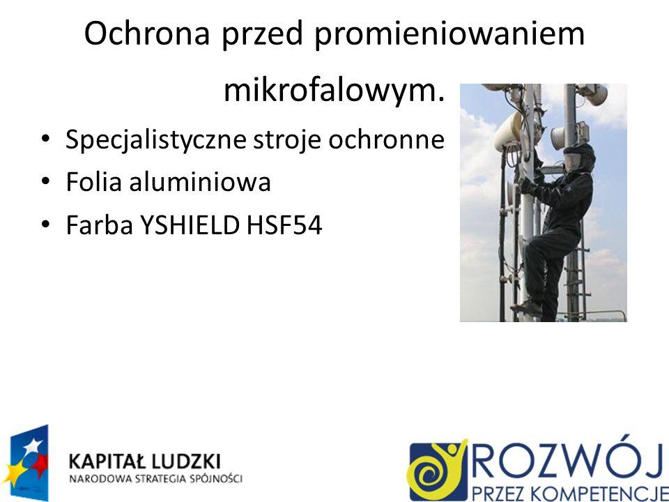 Ochrona przed promieniowaniem mikrofalowym.