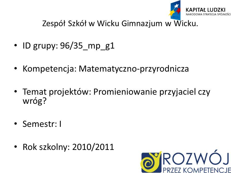 Zespół Szkół w Wicku Gimnazjum w Wicku.