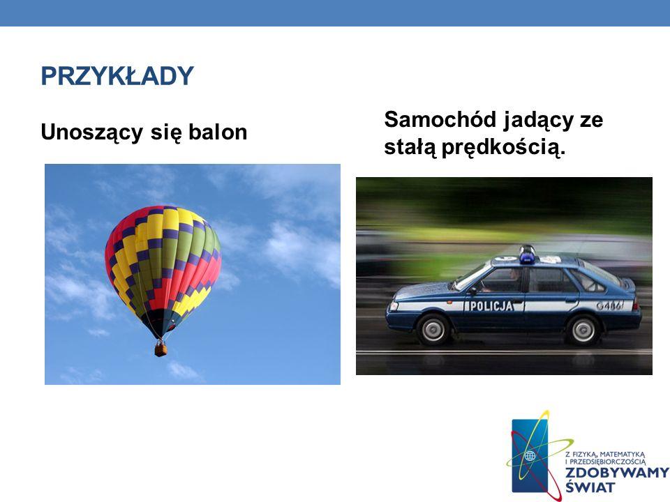 PRZYKŁADY Unoszący się balon Samochód jadący ze stałą prędkością.