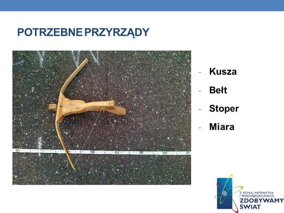 POTRZEBNE PRZYRZĄDY - Kusza - Bełt - Stoper - Miara