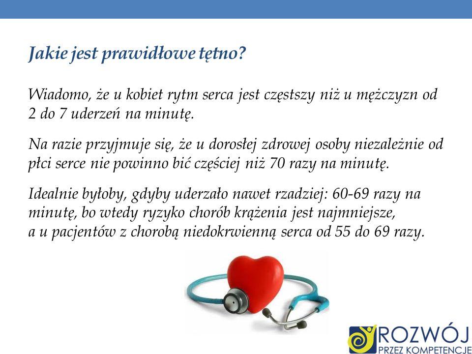 Jakie jest prawidłowe tętno? Wiadomo, że u kobiet rytm serca jest częstszy niż u mężczyzn od 2 do 7 uderzeń na minutę. Na razie przyjmuje się, że u do