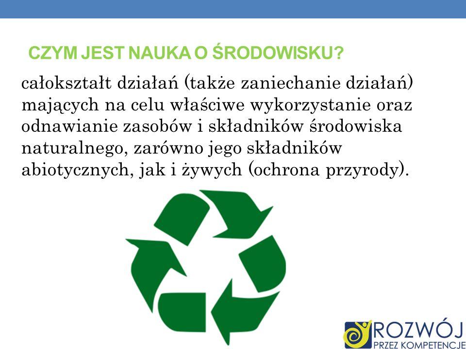 SPOSOBY OCHRONY ŚRODOWISKA: racjonalne kształtowanie środowiska i gospodarowanie zasobami środowiska zgodnie z zasadą zrównoważonego rozwoju przeciwdziałanie zanieczyszczeniom.