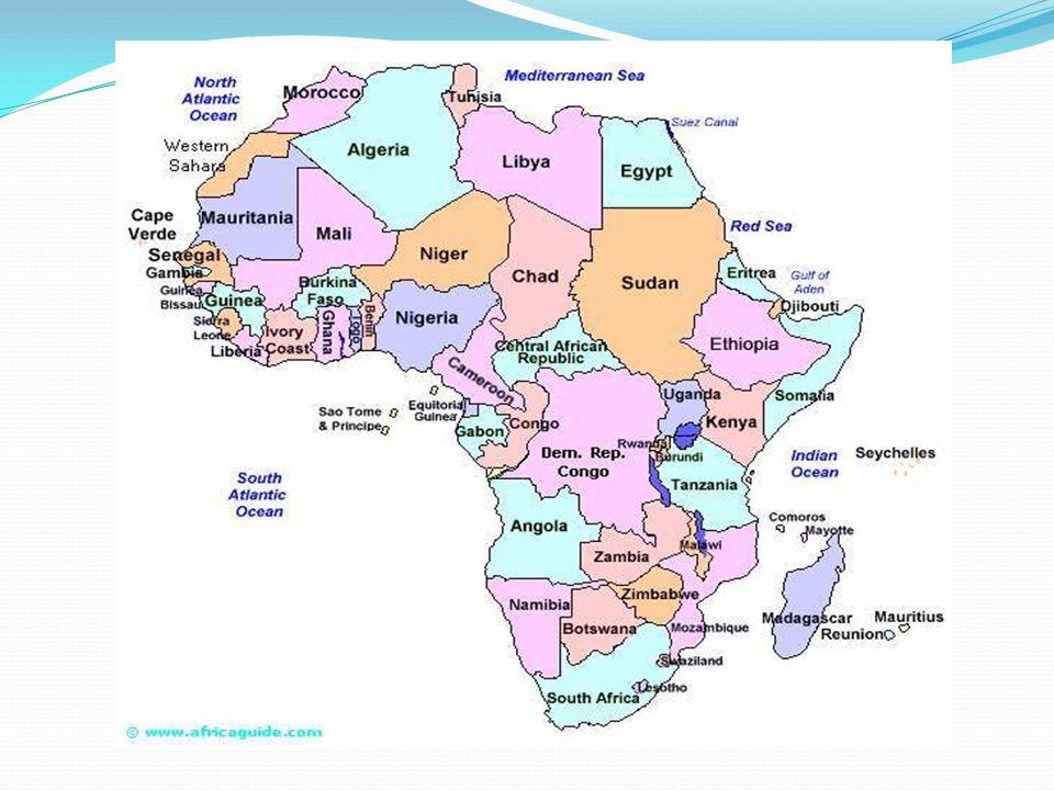 Afryka Jest drugim pod względem obszaru kontynentem na Ziemi.
