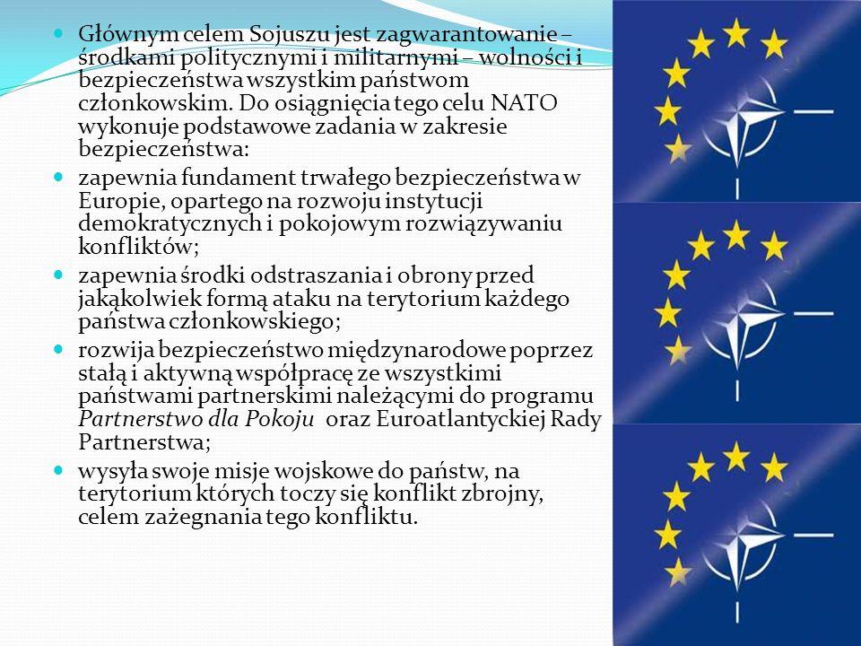 Organizacja Traktatu Północnoatlantyckiego Organizacja Traktatu Północnoatlantyckiego w skrócie NATO, potocznie Organizacja Paktu Północnoatlantyckiego lub Pakt Północnoatlantycki – organizacja polityczno- wojskowa powstała 24 sierpnia 1949 w wyniku podpisania 4 kwietnia 1949 Traktatu Północnoatlantyckiego przez 10 krajów europejskich: państw-członków Unii Zachodniej (Belgia, Francja, Holandia, Luksemburg Wielka Brytania) wraz z pięcioma dodatkowymi krajami (Dania, Islandia, Norwegi, Portugalia, Włochy) oraz USA i Kanadę.