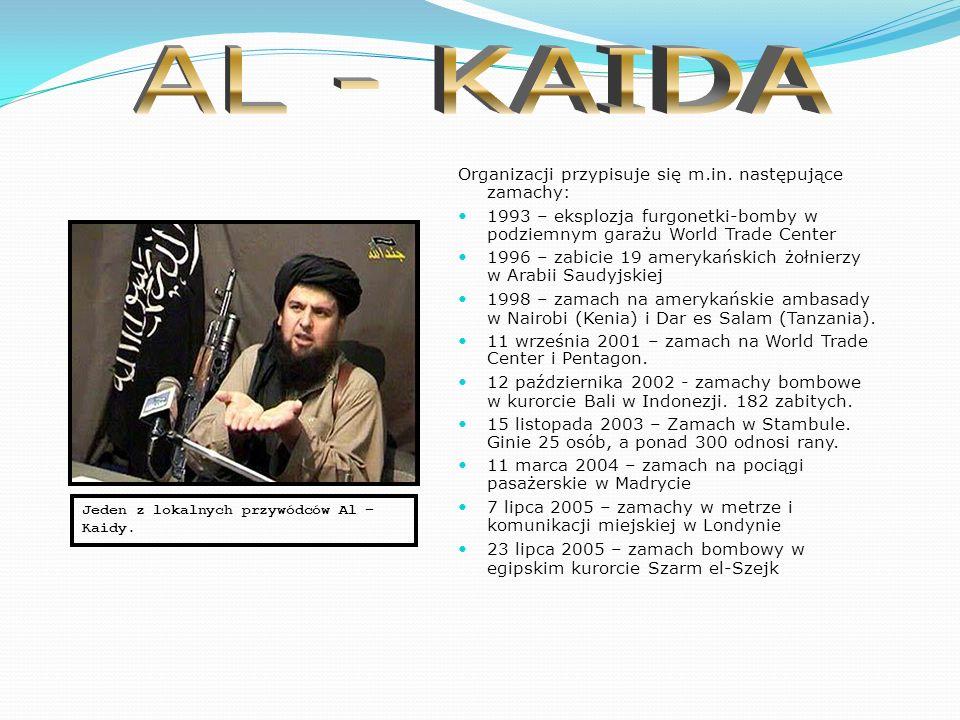 Al-Kaida to sunnicka organizacja posługująca się metodami terrorystycznymi, stworzona w 1988 roku przez Osamę bin Ladena.