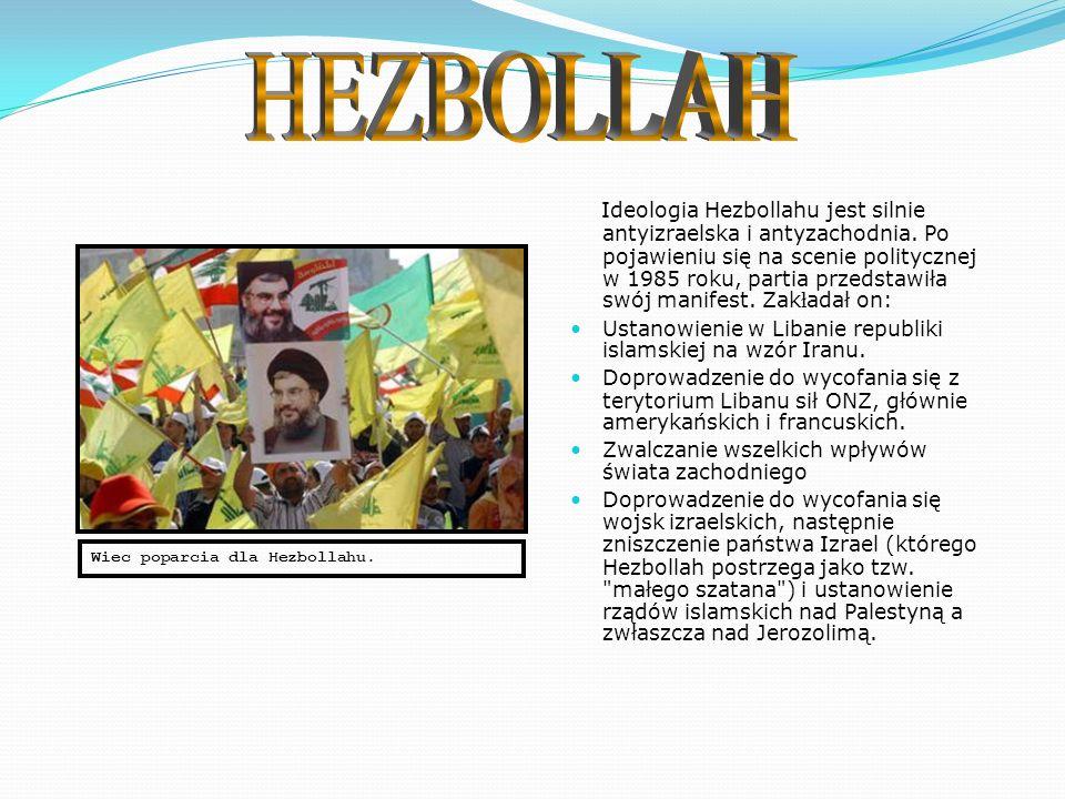 Hezbollah jest libańską partią polityczną islamskich szyitów, która została utworzona w roku 1982, podczas libańskiej wojny domowej, kiedy to władze irańskie wysłały do okupowanego przez wojska izraelskie Libanu 1200-osobowy kontyngent instruktorów z elitarnych oddziałów Strażników Rewolucji.