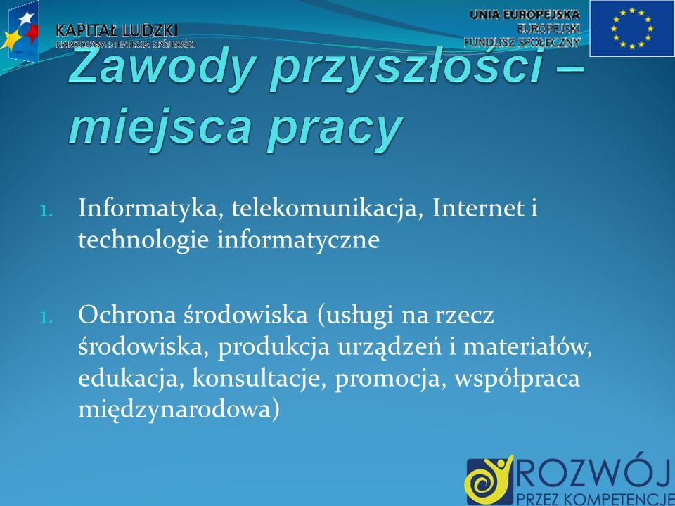 1. Informatyka, telekomunikacja, Internet i technologie informatyczne 1.