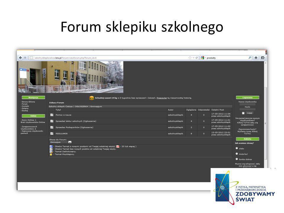 Forum sklepiku szkolnego