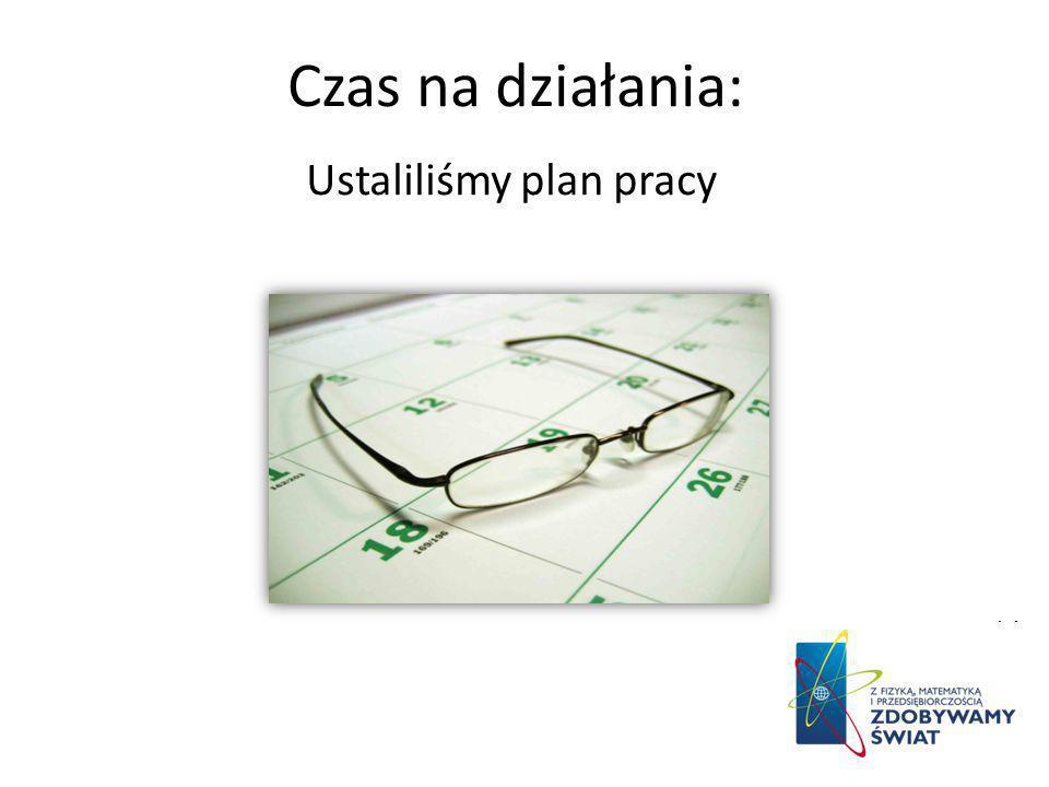 Czas na działania: Ustaliliśmy plan pracy