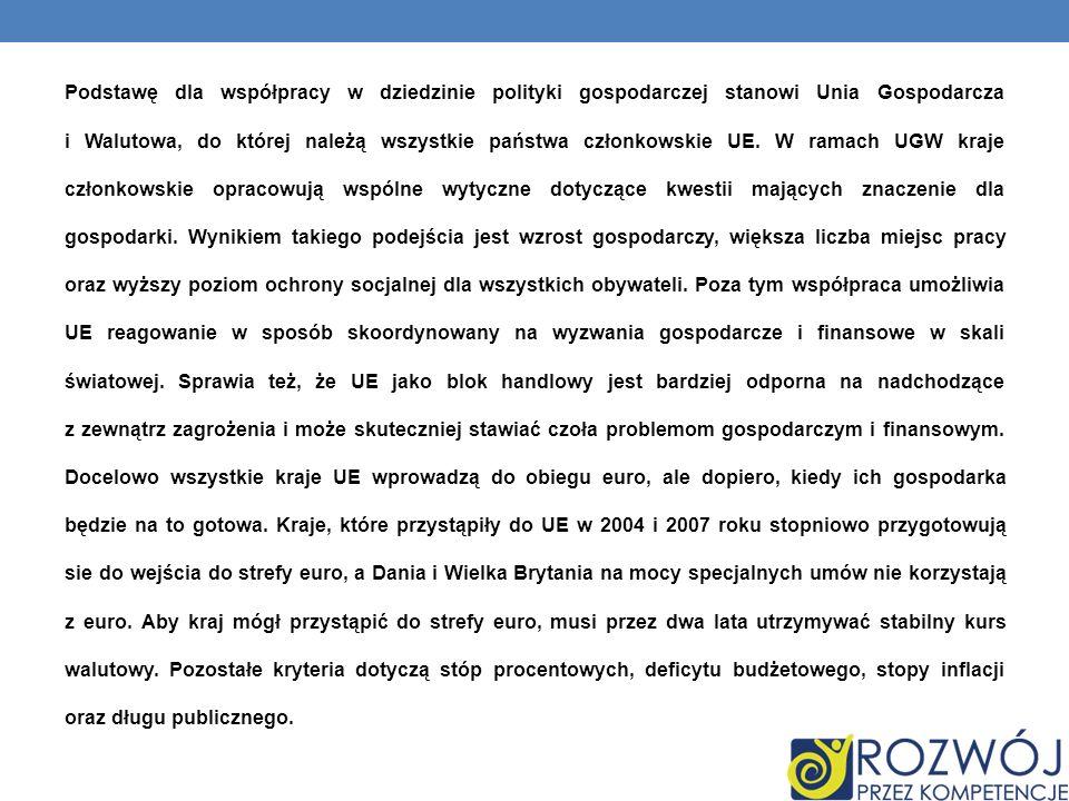 PLUSY PRZYSTĄPIENIA POLSKI DO UE: Europa otworzyła dla nas drzwi, że dzięki temu poprawia się nasz byt przystąpienie do wspólnego rynku wewnętrznego otworzyło szansę na wolną wymianę handlową posługiwanie się wewnątrz wspólnot jedną walutą, jaką jest euro Polska jako kraj członkowski stał się również otworem dla inwestorów i najnowszych rozwiązań technologicznych Otworzył się również przed Polakami nowy rynek pracy w państwach członkowskich Unii swoboda podróżowania po członkowskich krajach, oraz zniesienie granicznych kontroli
