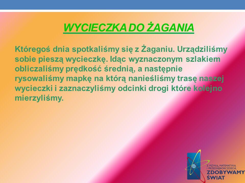 WYCIECZKA DO ŻAGANIA Któregoś dnia spotkaliśmy się z Żaganiu.