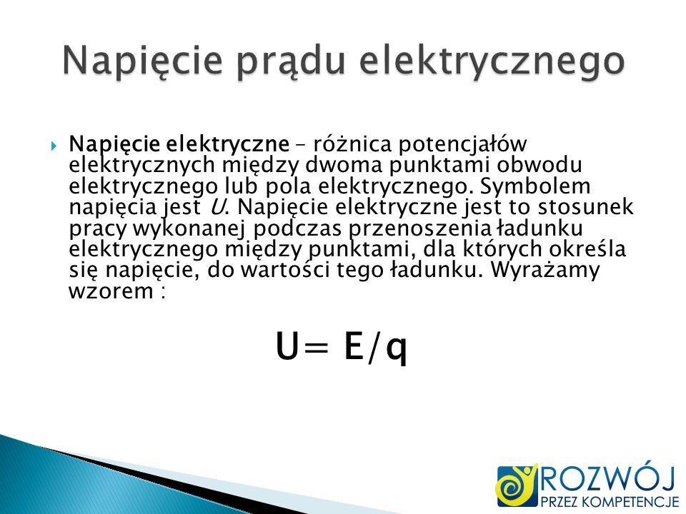 Natężenie prądu elektrycznego Natężenie prądu (nazywane potocznie prądem elektrycznym) jest wielkością fizyczną charakteryzującą przepływ prądu elektrycznego zdefiniowaną jako stosunek wartości ładunku elektrycznego przepływającego przez wyznaczoną powierzchnię do czasu przepływu ładunku.