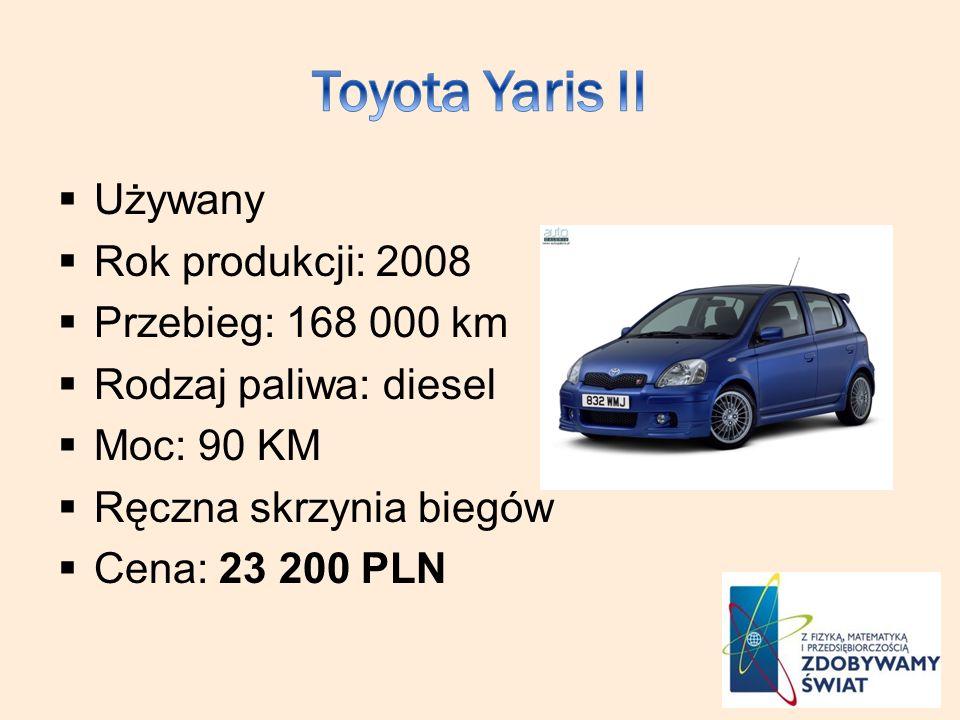 Używany Rok produkcji: 2008 Przebieg: 168 000 km Rodzaj paliwa: diesel Moc: 90 KM Ręczna skrzynia biegów Cena: 23 200 PLN