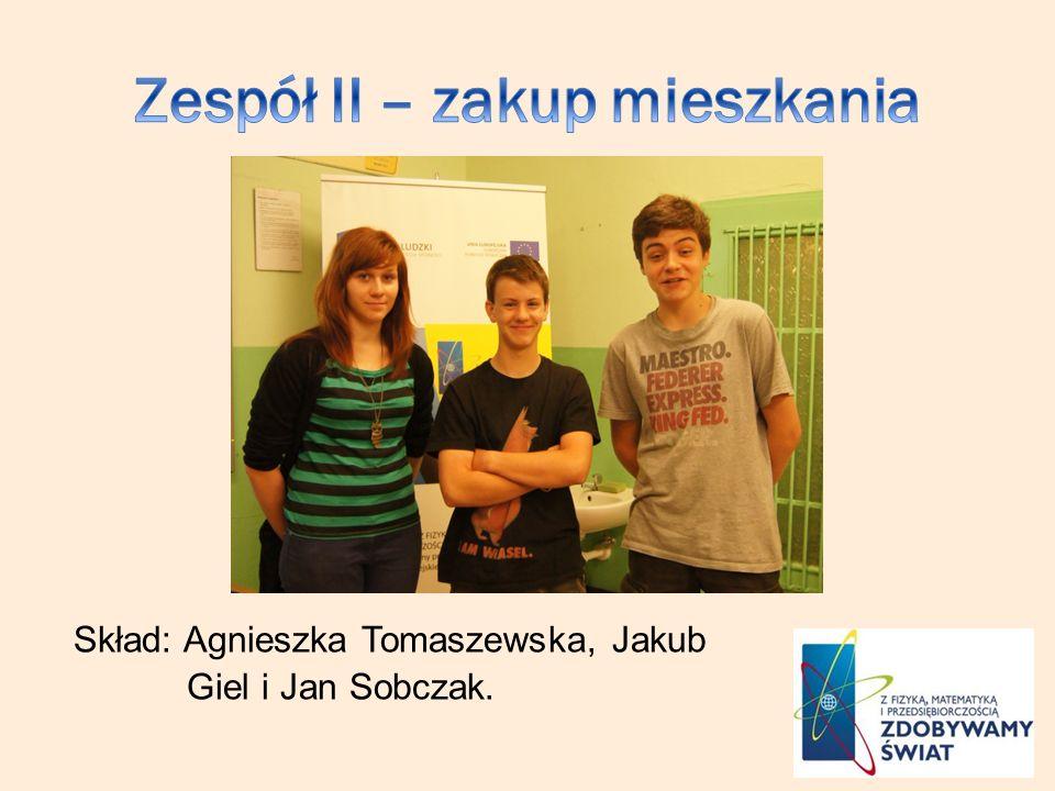 Skład: Agnieszka Tomaszewska, Jakub Giel i Jan Sobczak.