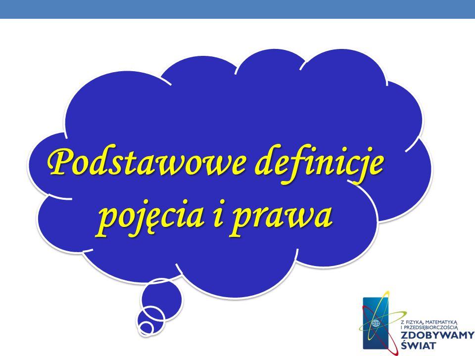 Podstawowe definicje pojęcia i prawa Podstawowe definicje pojęcia i prawa