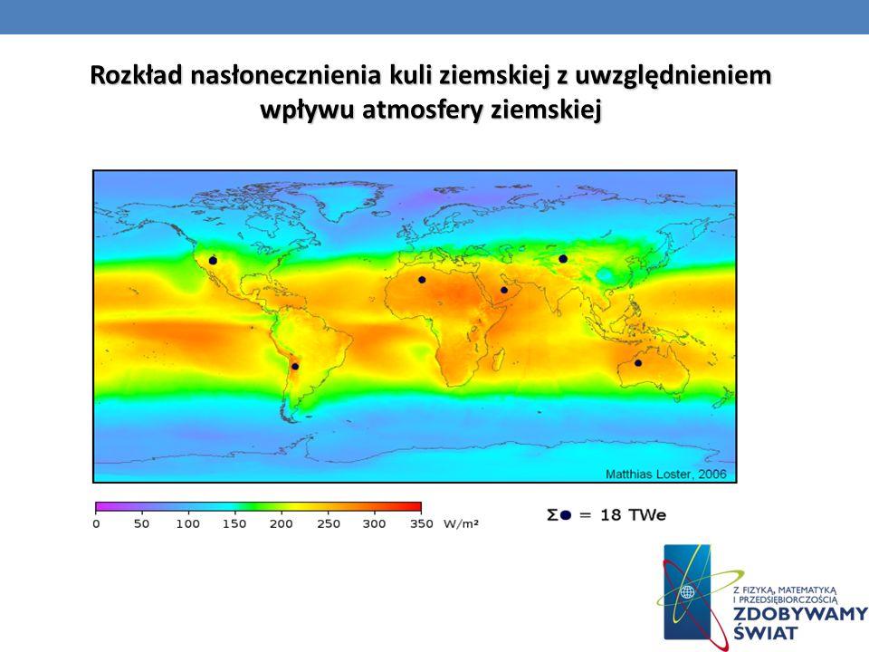 Rozkład nasłonecznienia kuli ziemskiej z uwzględnieniem wpływu atmosfery ziemskiej