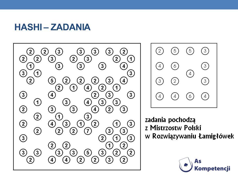 HASHI – ZADANIA