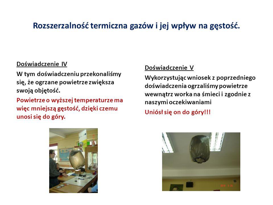 Rozszerzalność termiczna gazów i jej wpływ na gęstość.