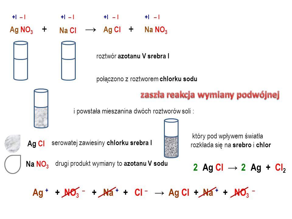 Ca SO 4 Cu SO 4 Ca Cl 2 Cu Cl 2 + +II – II +II – I +II – II +II – I Ca SO 4 Cu Cl 2 + roztwór siarczanu VI miedzi II połączono z roztworem chlorku wap
