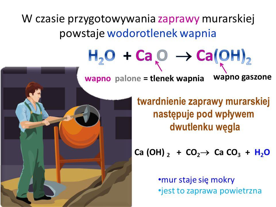 wapno palone jest używane na każdej budowie i otrzymuje się je z soli, czyli węglanu wapnia