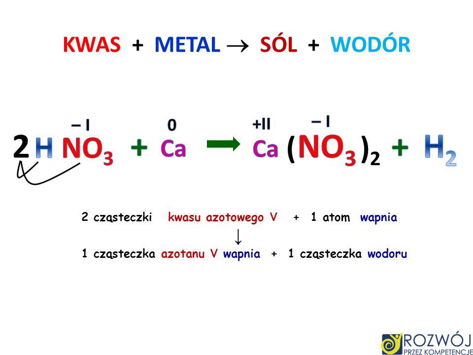 KWAS + TLENEK METALU SÓL + WODA 3 cząsteczki kwasu siarkowego VI + 1 cząsteczka tlenku żelaza III 1 cząsteczka siarczanu VI żelaza III + 3 cząsteczki