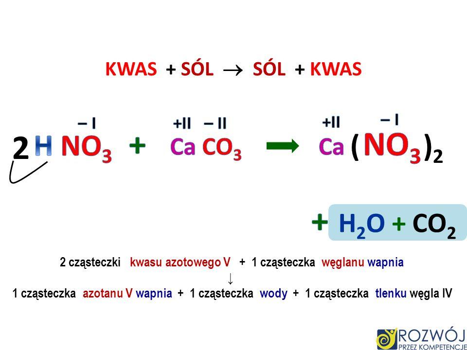 Ca CO 3 Ca CO 3 C H 3 COOH C H 3 COOH Ca CO 3 C H 3 COO H + II –I –II + CaC H 3 COO –I +II ( ) 2 + H 2 O + CO 2 H 2 CO 3 Odkamienianie czajnika octem