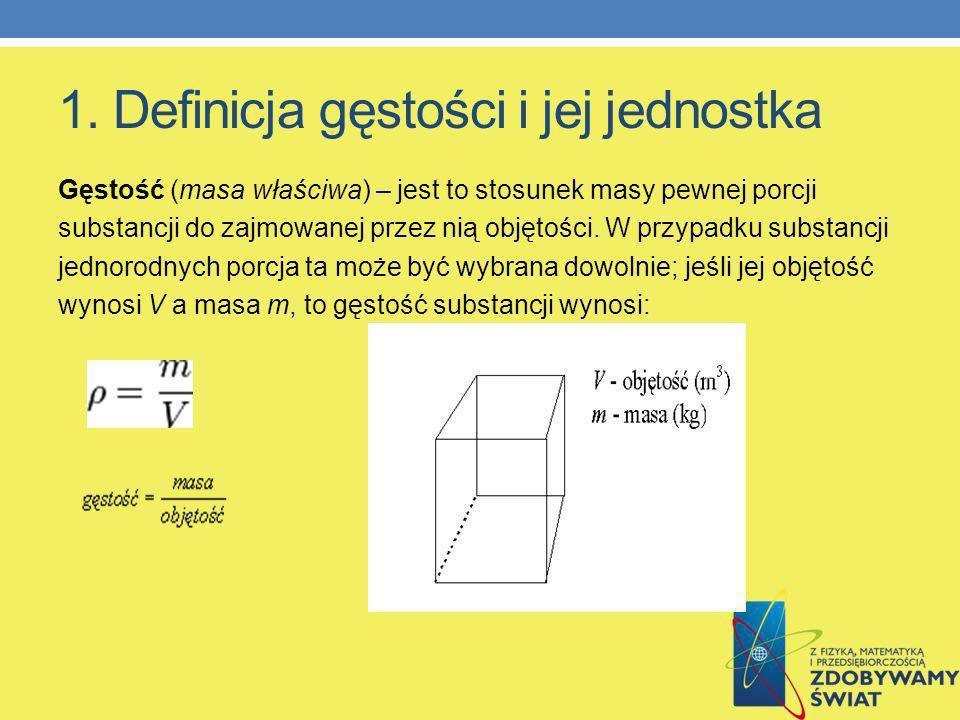 4.Podział ciał ze względu na gęstość Ciała dzielimy na stałe, ciekłe i gazowe.
