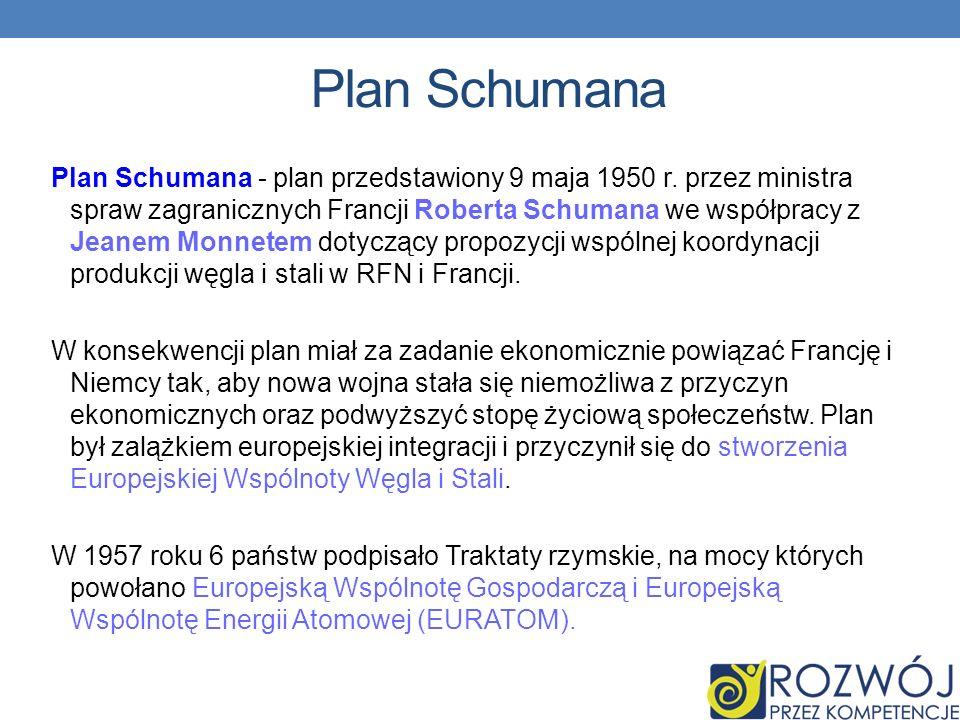 Plan Schumana Plan Schumana - plan przedstawiony 9 maja 1950 r.
