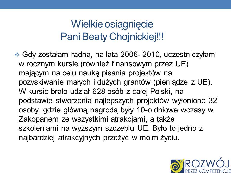 Wielkie osiągnięcie Pani Beaty Chojnickiej!!.