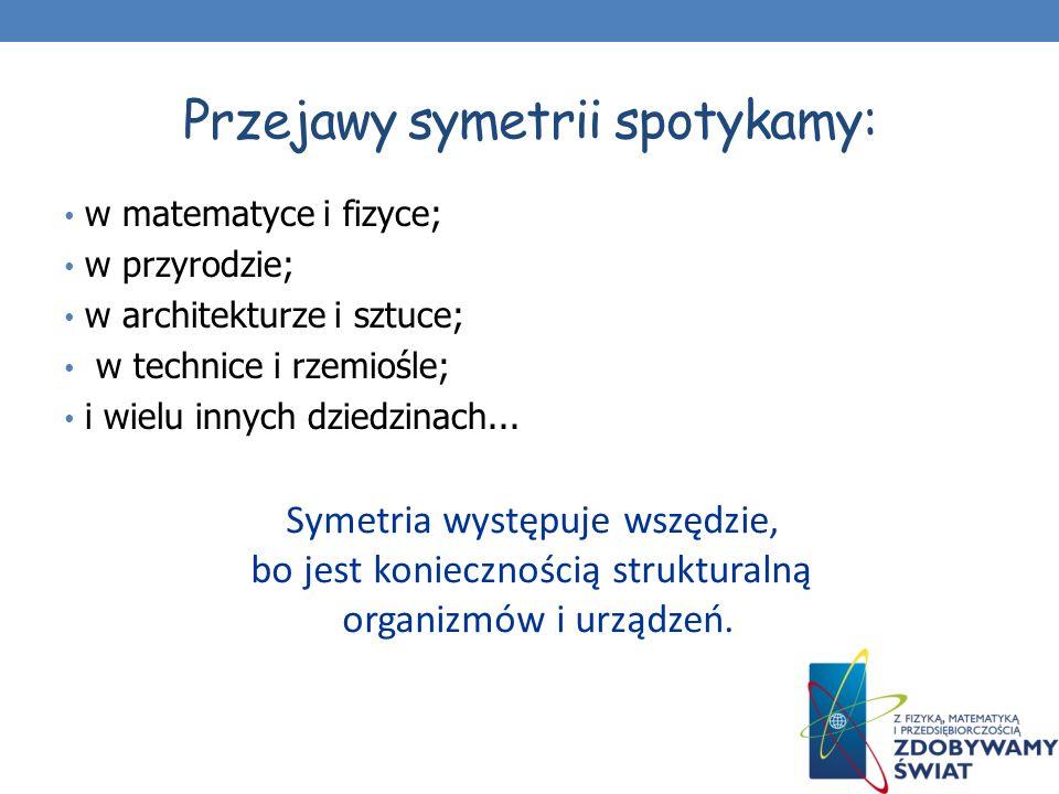 Rodzaje symetrii