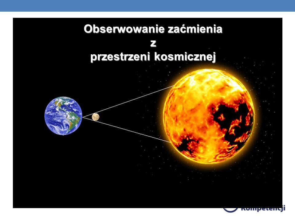 Obserwowanie zaćmienia z przestrzeni kosmicznej przestrzeni kosmicznej