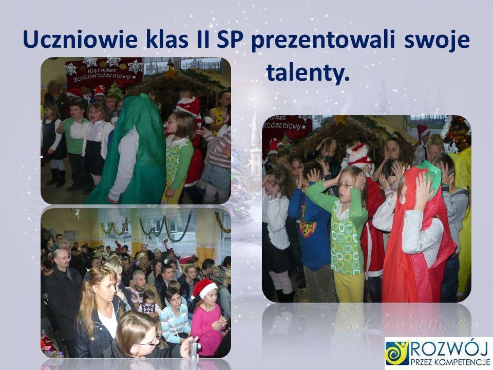 Uczniowie klas II SP prezentowali swoje talenty.